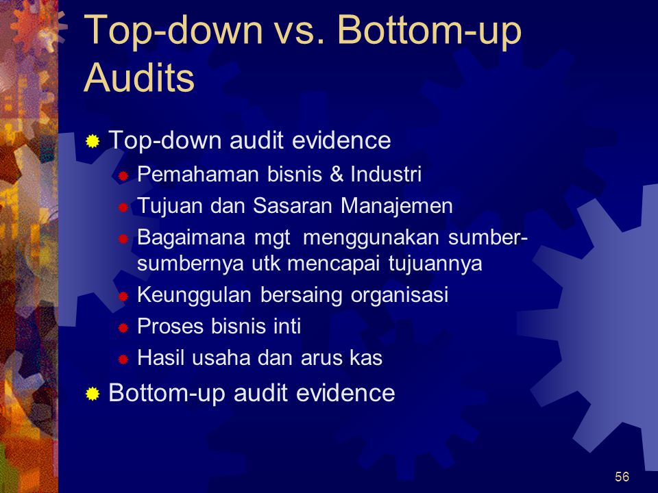 Top-down vs. Bottom-up Audits
