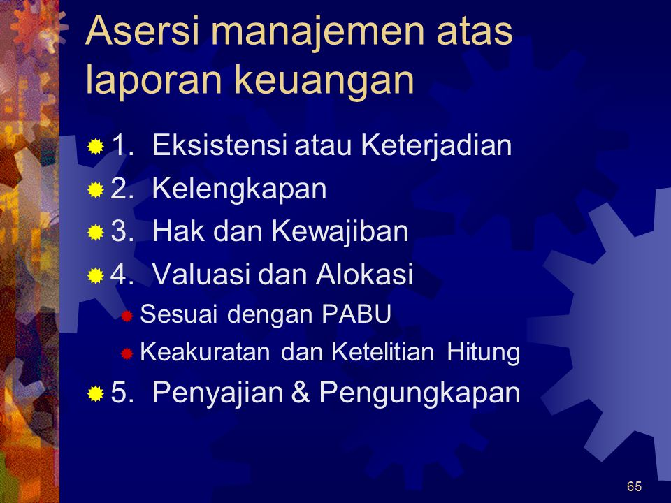 Asersi manajemen atas laporan keuangan