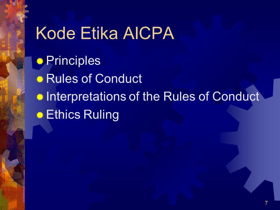 Kode Etika AICPA Principles Rules of Conduct