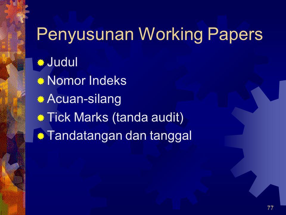 Penyusunan Working Papers