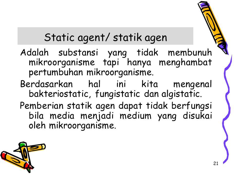 Static agent/ statik agen