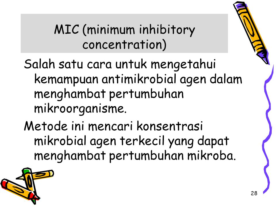 MIC (minimum inhibitory concentration)