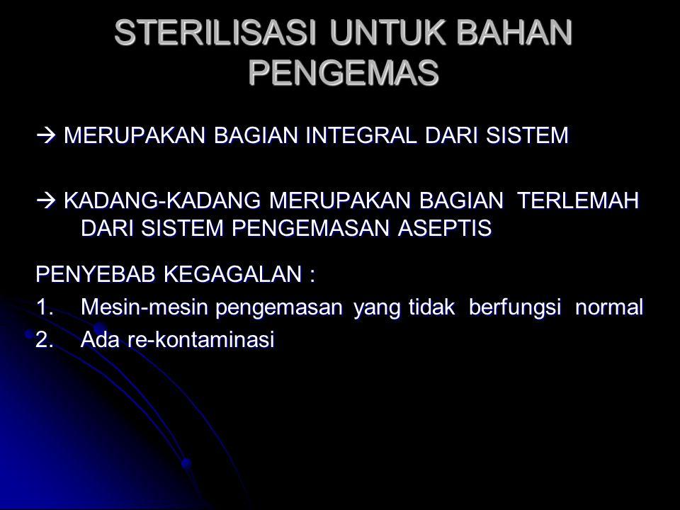 STERILISASI UNTUK BAHAN PENGEMAS