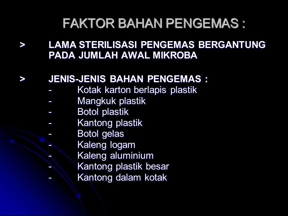 FAKTOR BAHAN PENGEMAS :