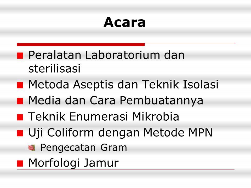 Acara Peralatan Laboratorium dan sterilisasi