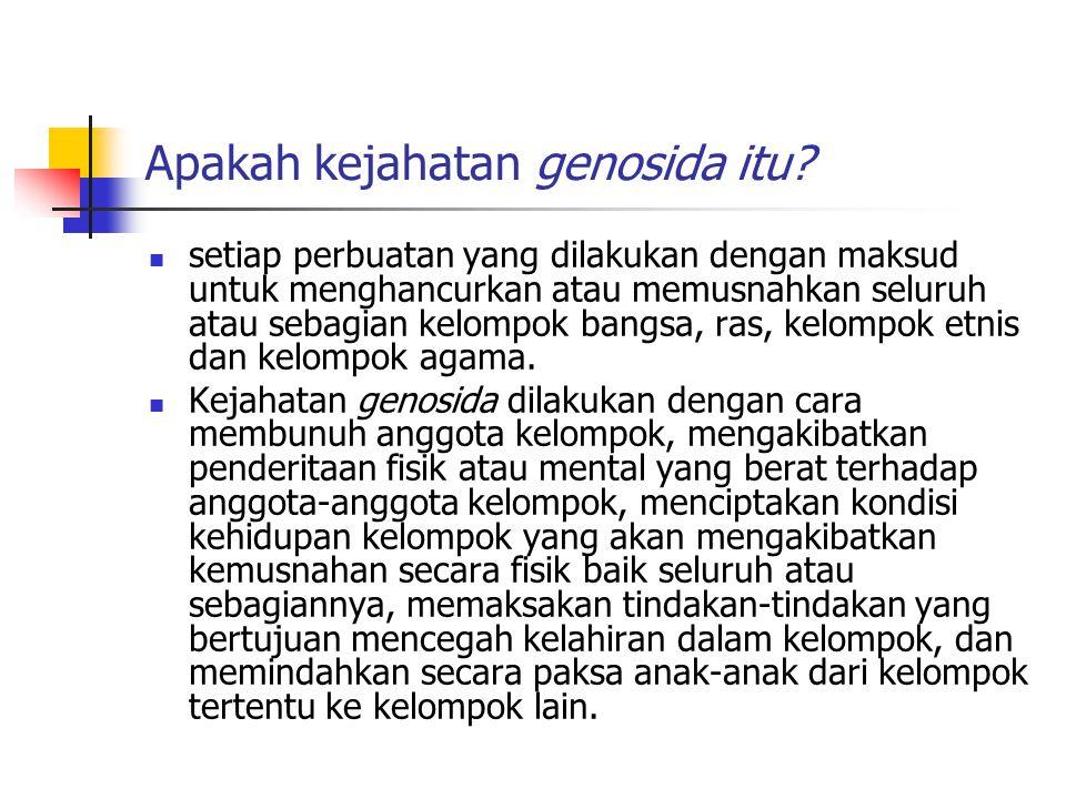 Apakah kejahatan genosida itu