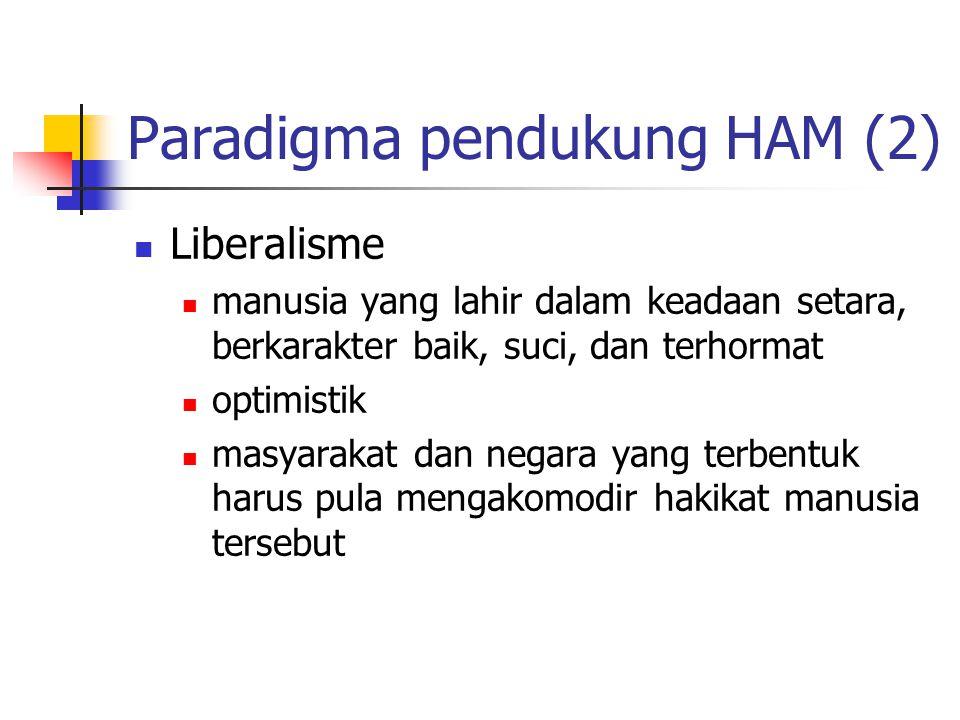 Paradigma pendukung HAM (2)