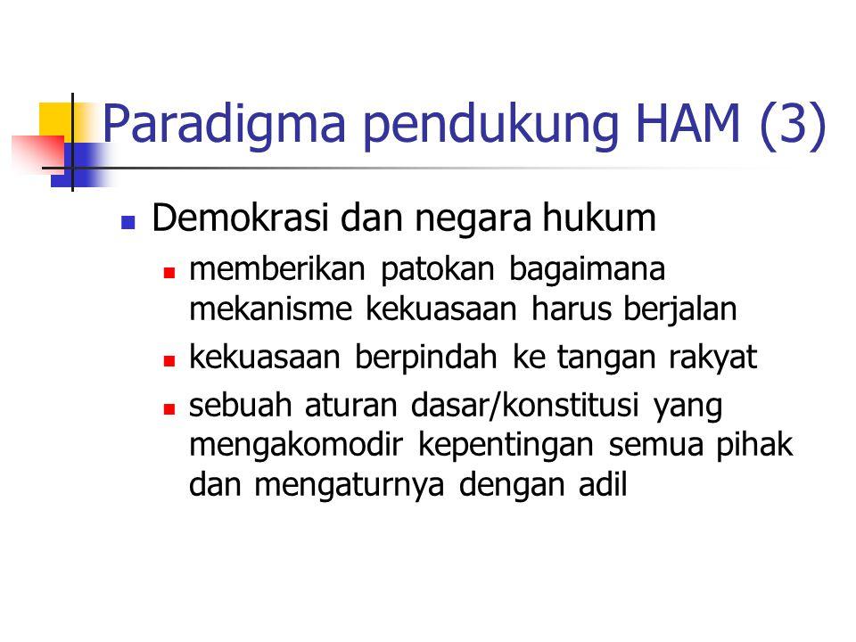 Paradigma pendukung HAM (3)