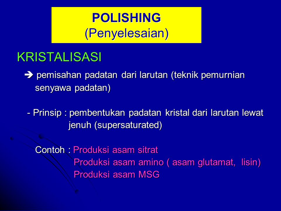 POLISHING (Penyelesaian)