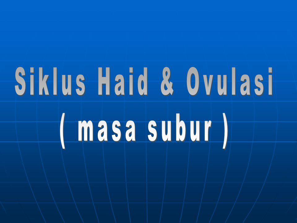 Siklus Haid & Ovulasi ( masa subur )