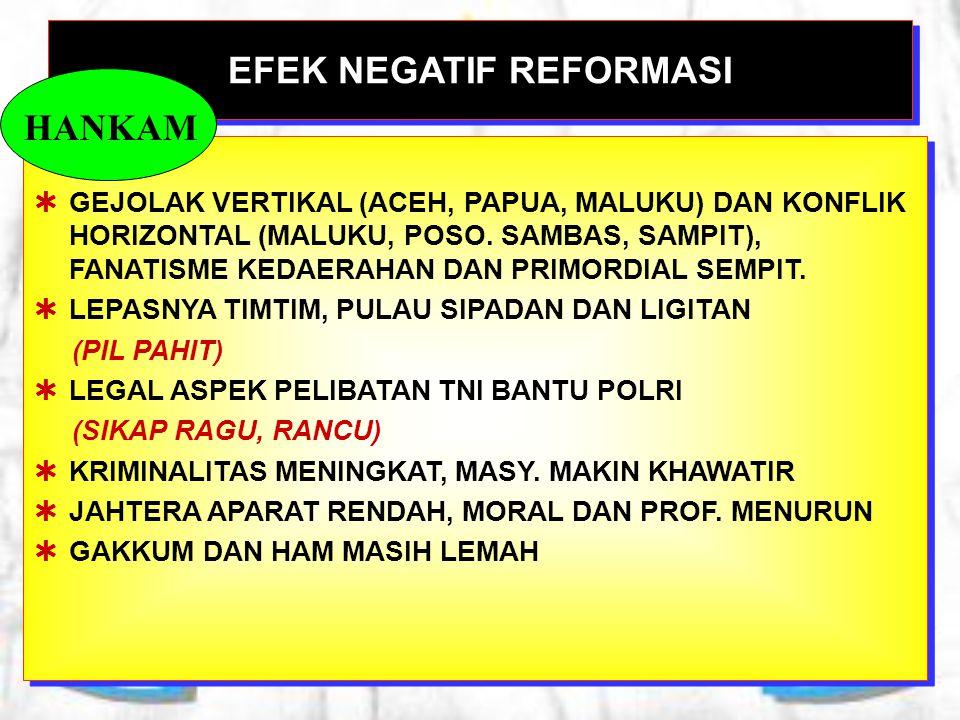 EFEK NEGATIF REFORMASI