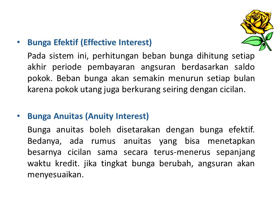 Bunga Efektif (Effective Interest)