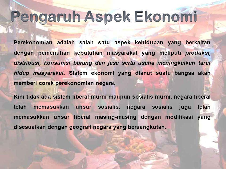 Pengaruh Aspek Ekonomi
