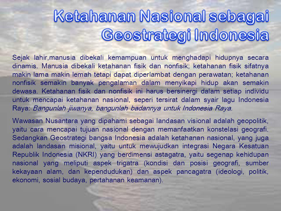 Ketahanan Nasional sebagai Geostrategi Indonesia
