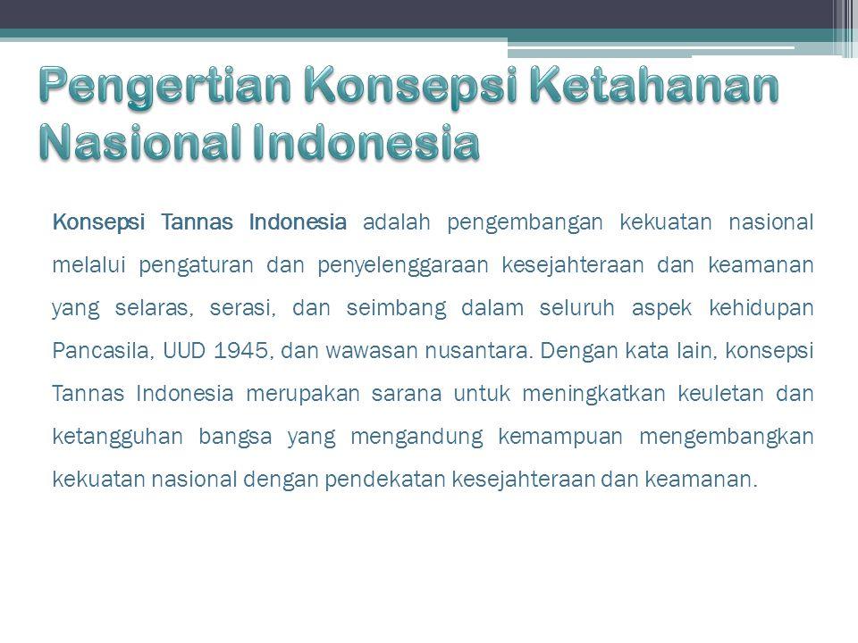 Pengertian Konsepsi Ketahanan Nasional Indonesia