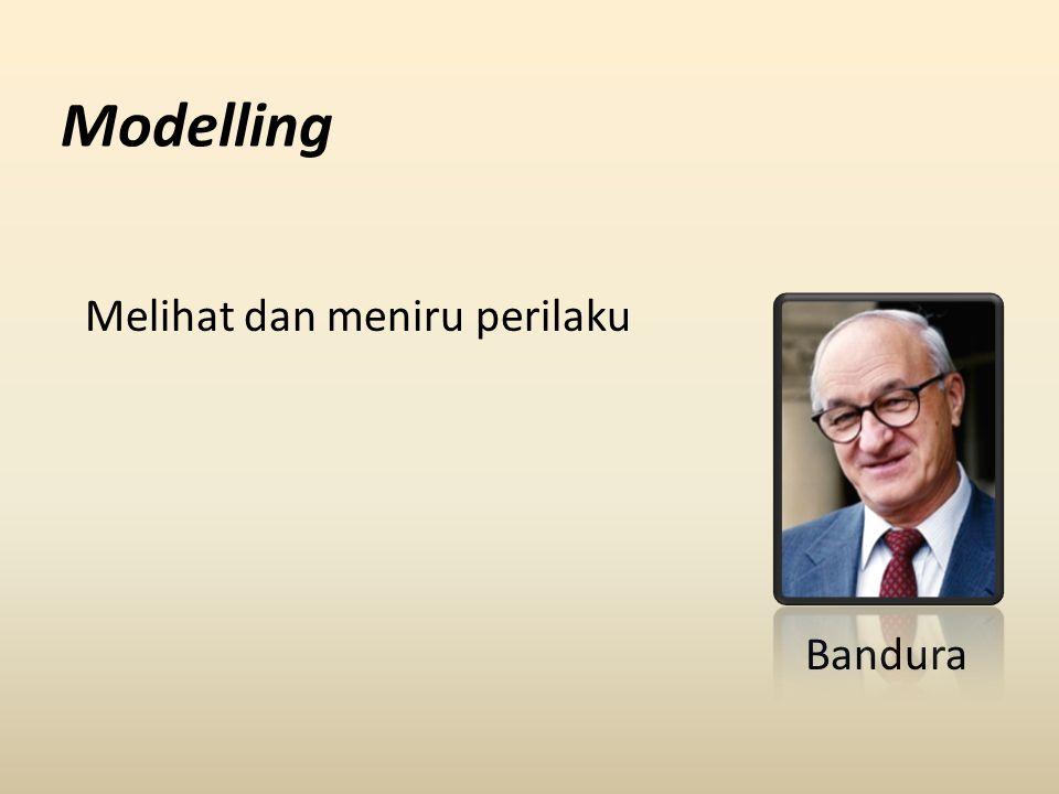 Modelling Melihat dan meniru perilaku Bandura