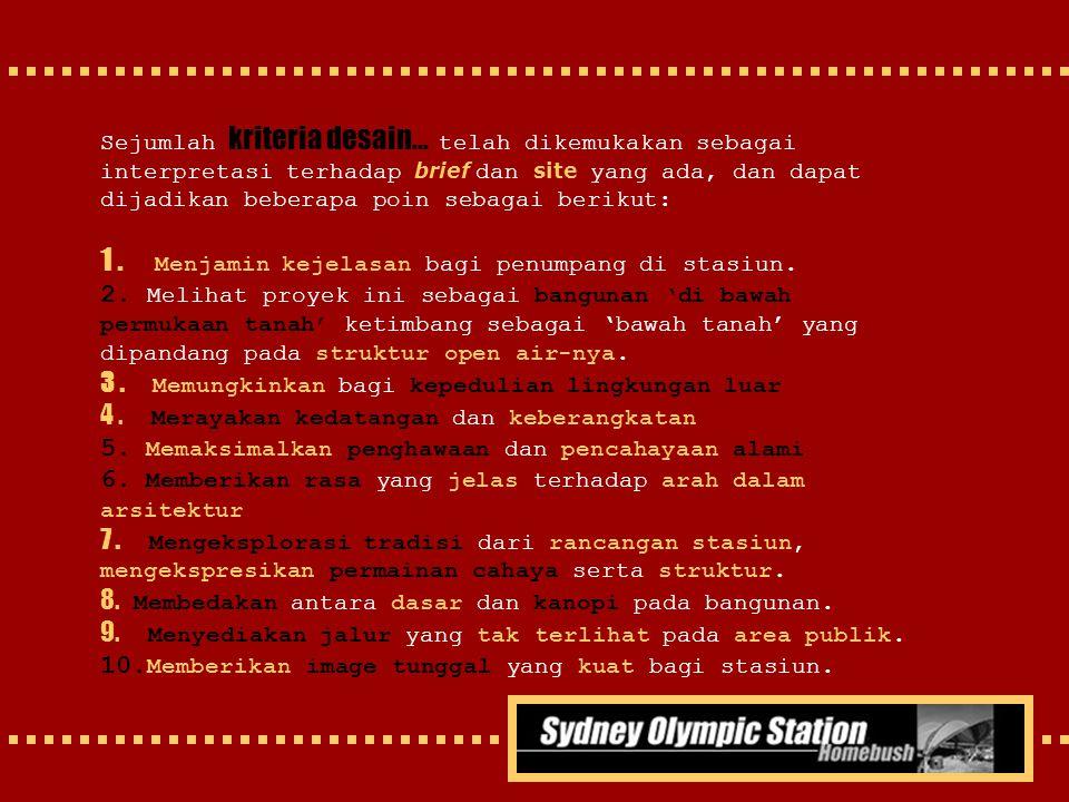 1 . Menjamin kejelasan bagi penumpang di stasiun.