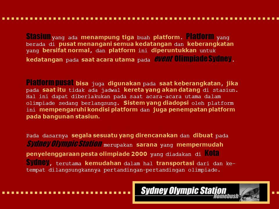 Stasiun yang ada menampung tiga buah platform
