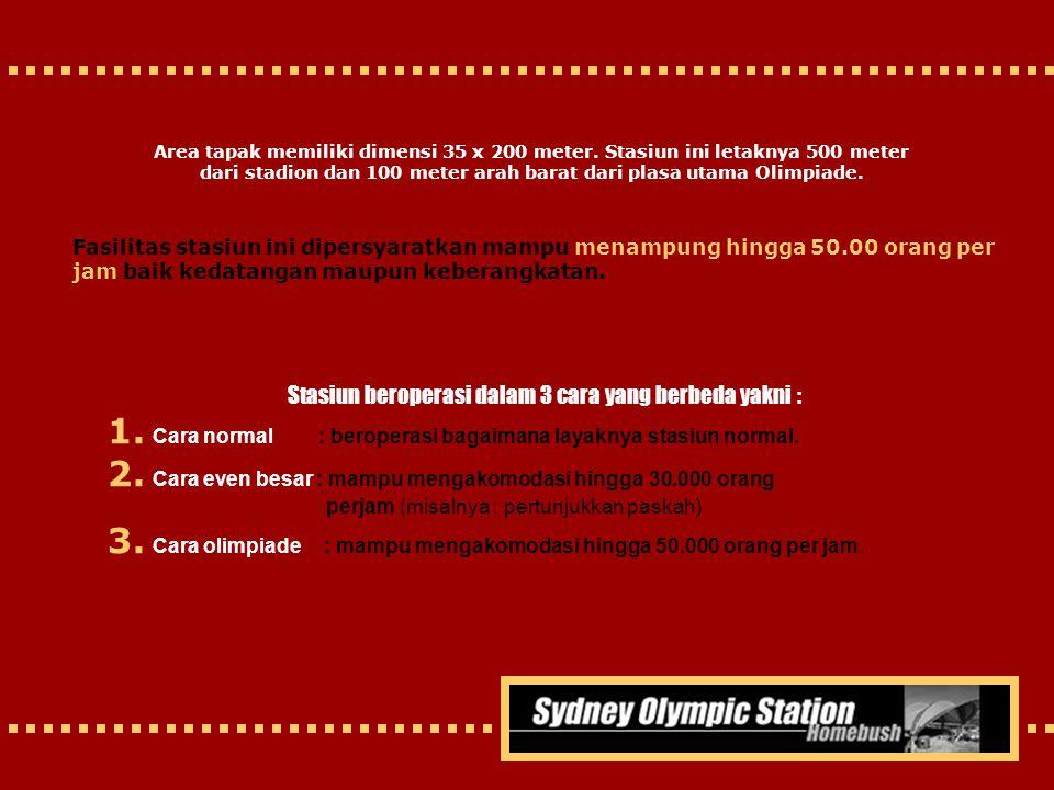 Stasiun beroperasi dalam 3 cara yang berbeda yakni :
