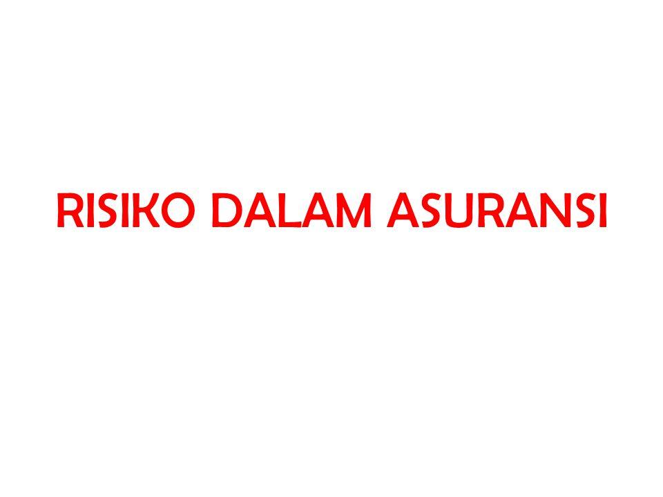 RISIKO DALAM ASURANSI