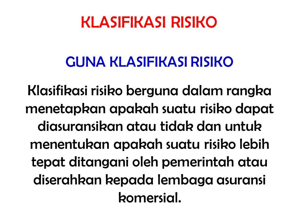 KLASIFIKASI RISIKO