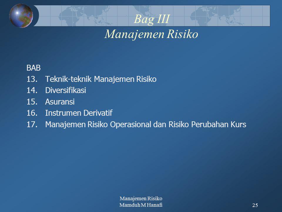 Bag III Manajemen Risiko