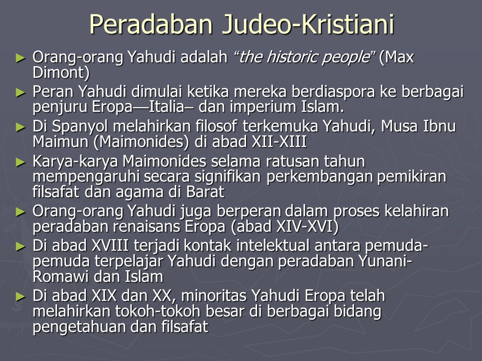 Peradaban Judeo-Kristiani