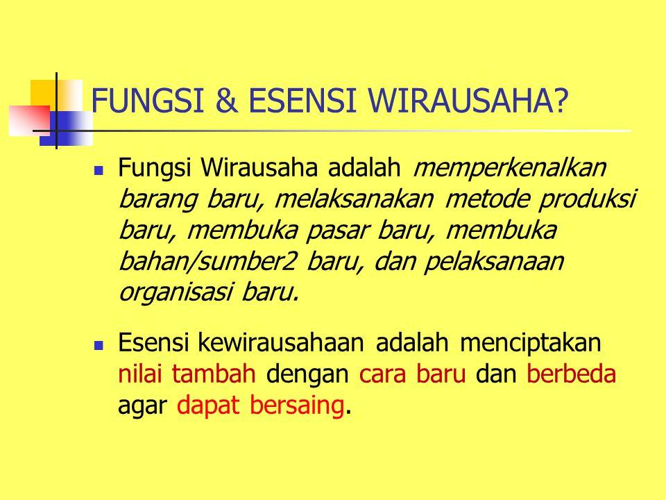 FUNGSI & ESENSI WIRAUSAHA