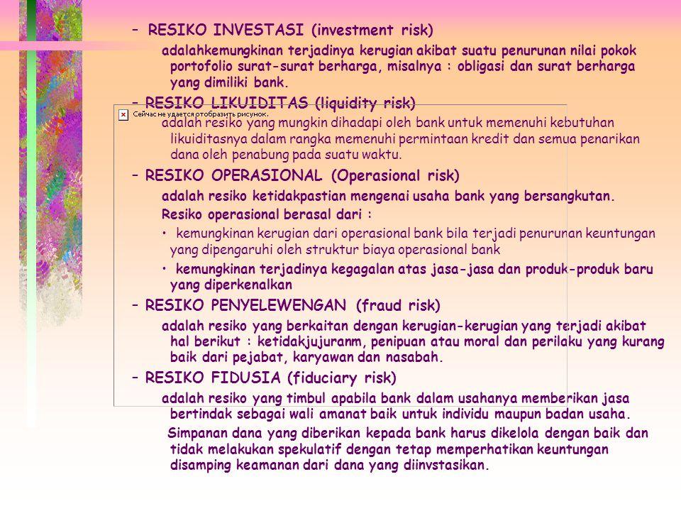 RESIKO INVESTASI (investment risk)