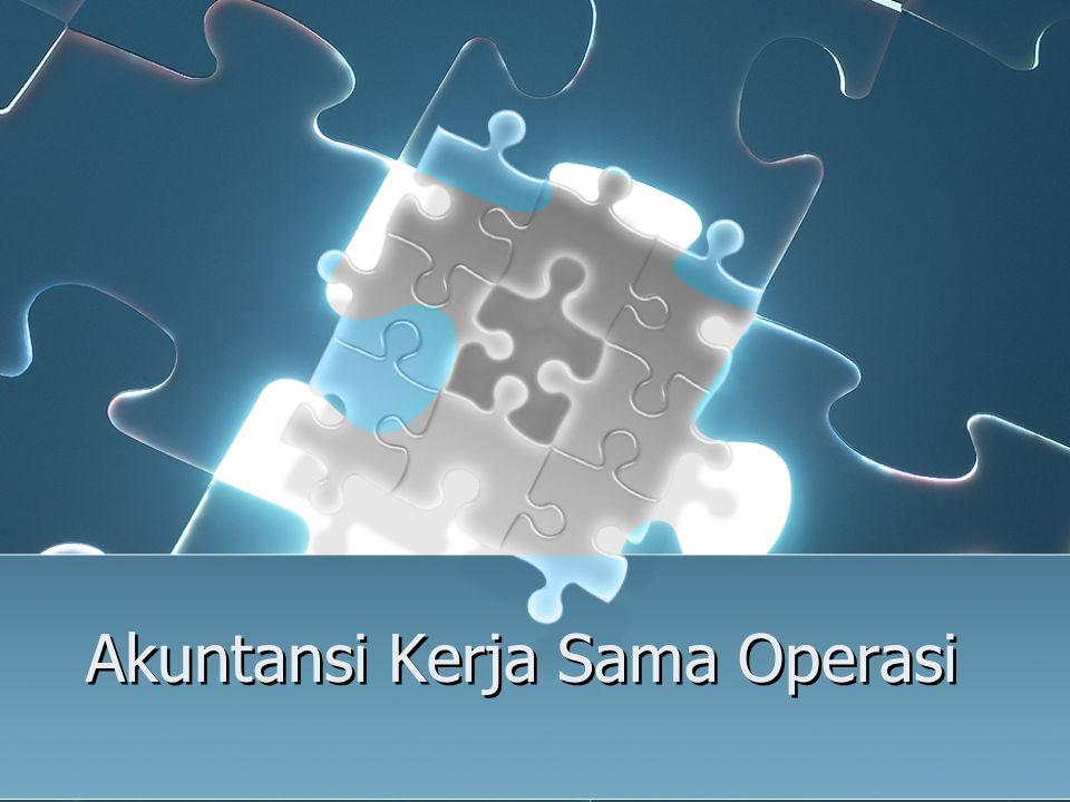 Akuntansi Kerja Sama Operasi