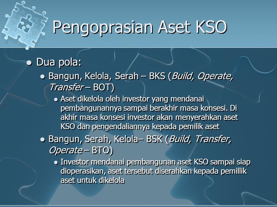 Pengoprasian Aset KSO Dua pola: