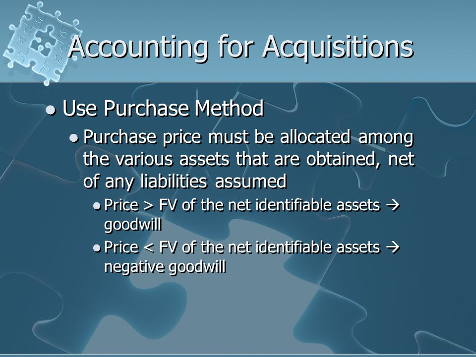 Accounting for Acquisitions