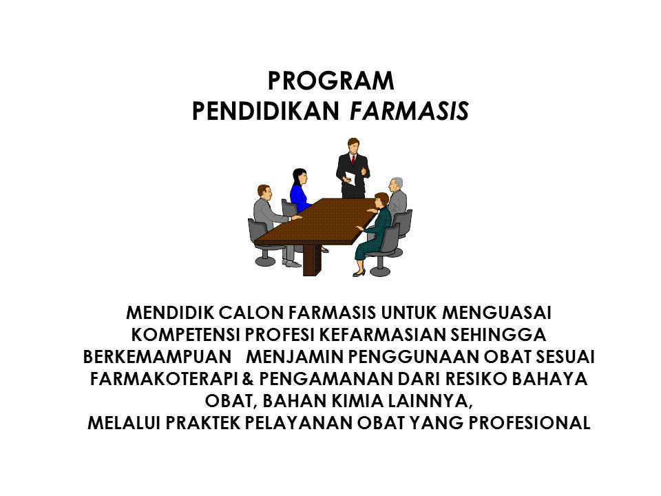PROGRAM PENDIDIKAN FARMASIS