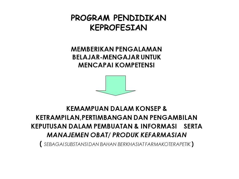 PROGRAM PENDIDIKAN KEPROFESIAN