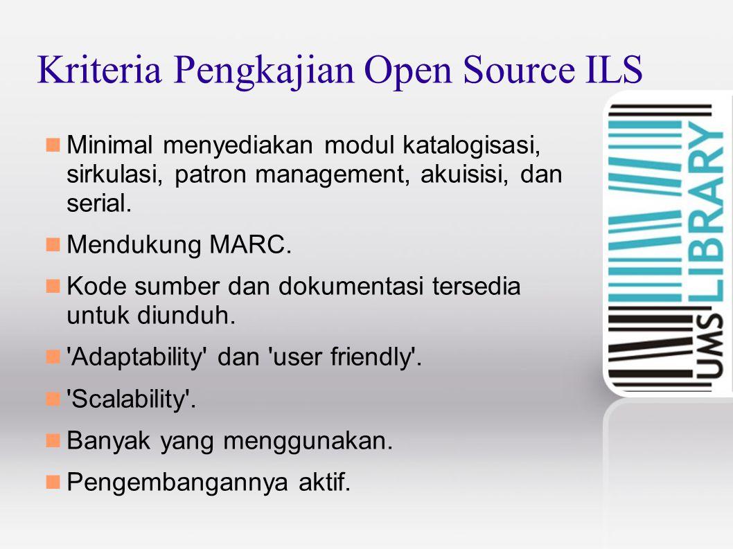 Kriteria Pengkajian Open Source ILS