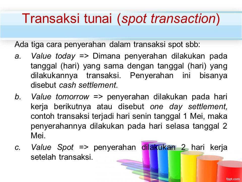 Transaksi tunai (spot transaction)