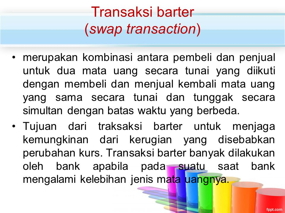 Transaksi barter (swap transaction)