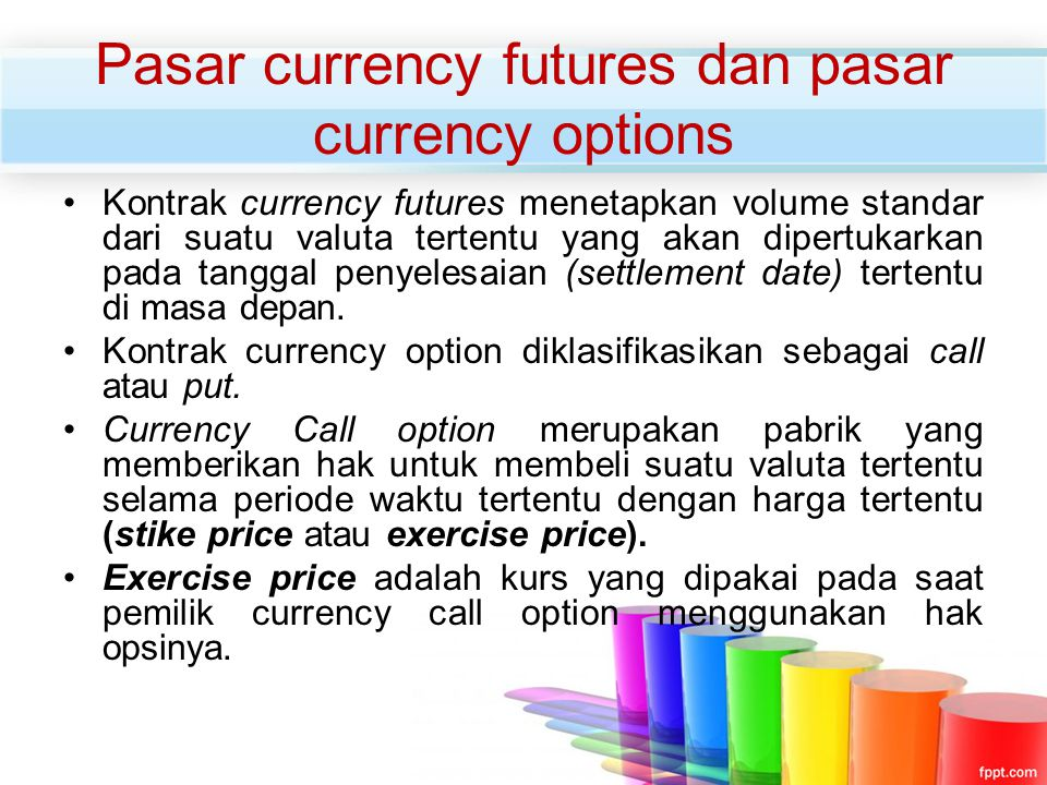 Pasar currency futures dan pasar currency options