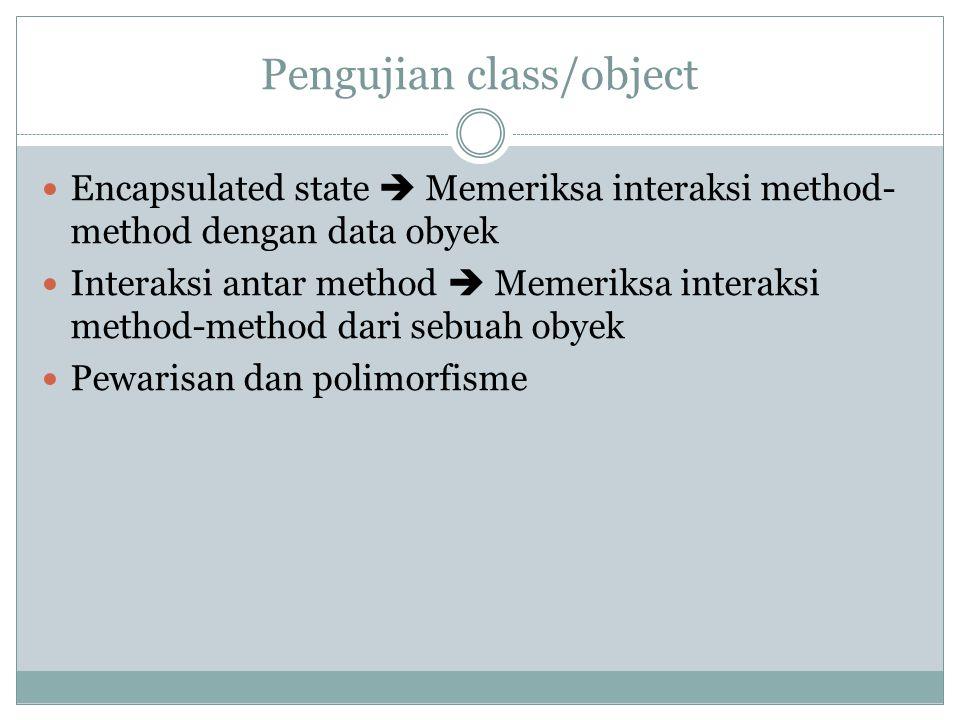 Pengujian class/object