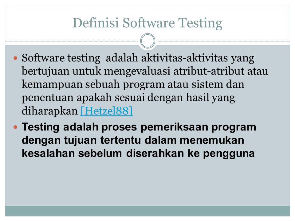 Definisi Software Testing