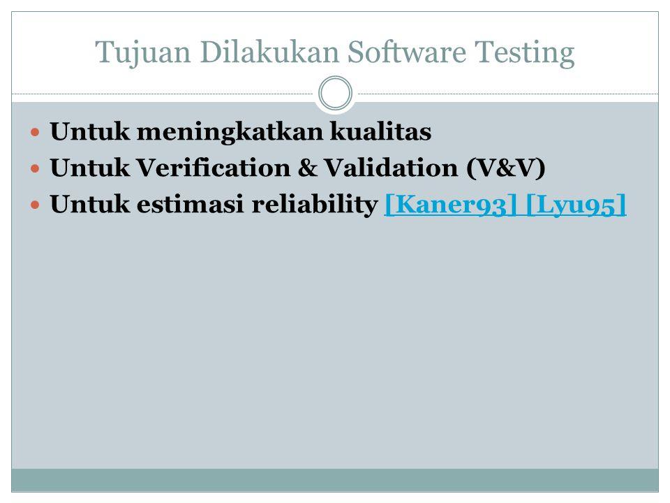 Tujuan Dilakukan Software Testing