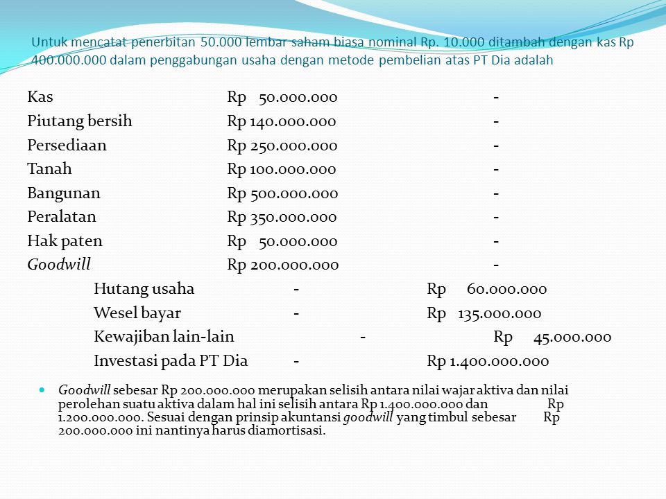 Kewajiban lain-lain - Rp 45.000.000