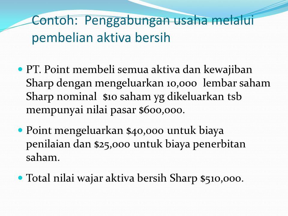 Contoh: Penggabungan usaha melalui pembelian aktiva bersih