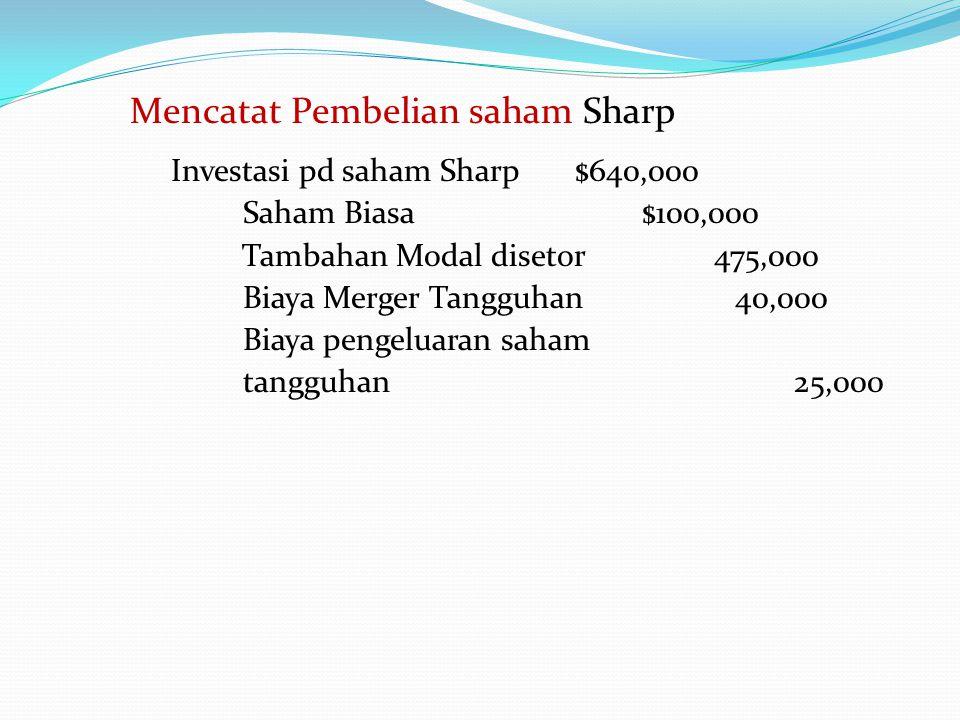 Mencatat Pembelian saham Sharp
