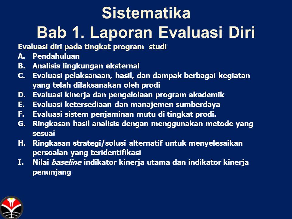 Sistematika Bab 1. Laporan Evaluasi Diri
