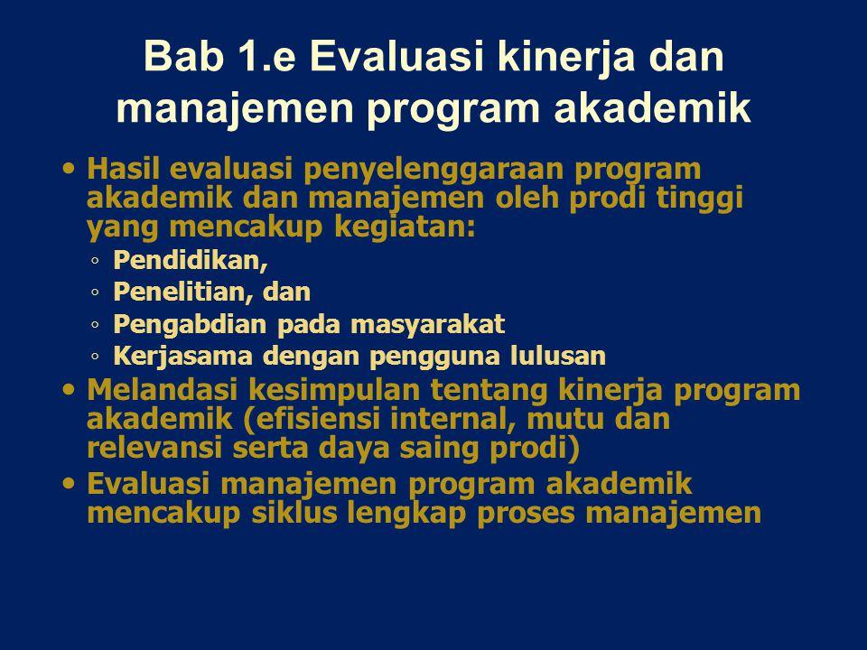 Bab 1.e Evaluasi kinerja dan manajemen program akademik