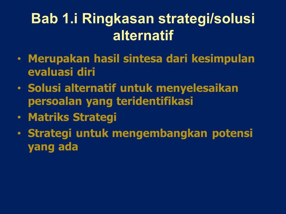 Bab 1.i Ringkasan strategi/solusi alternatif