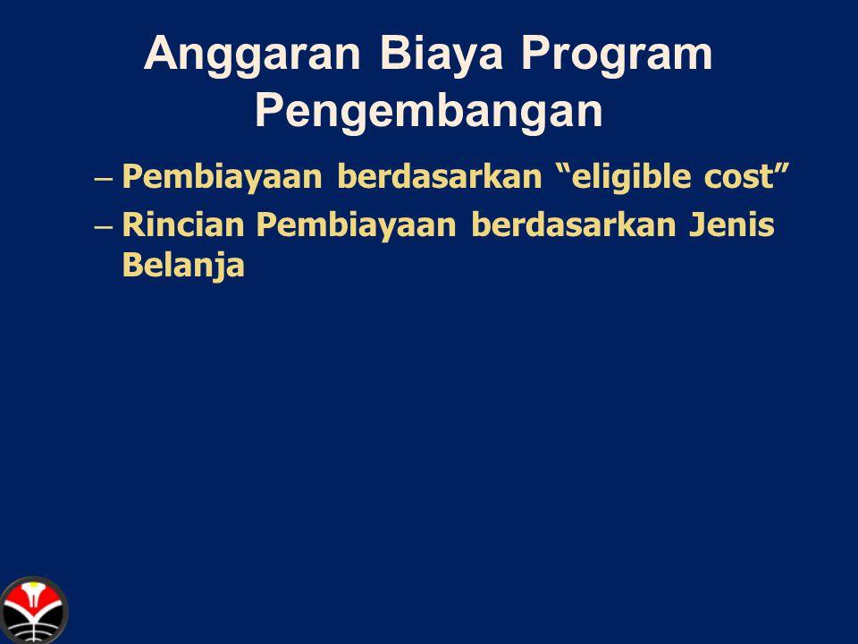 Anggaran Biaya Program Pengembangan