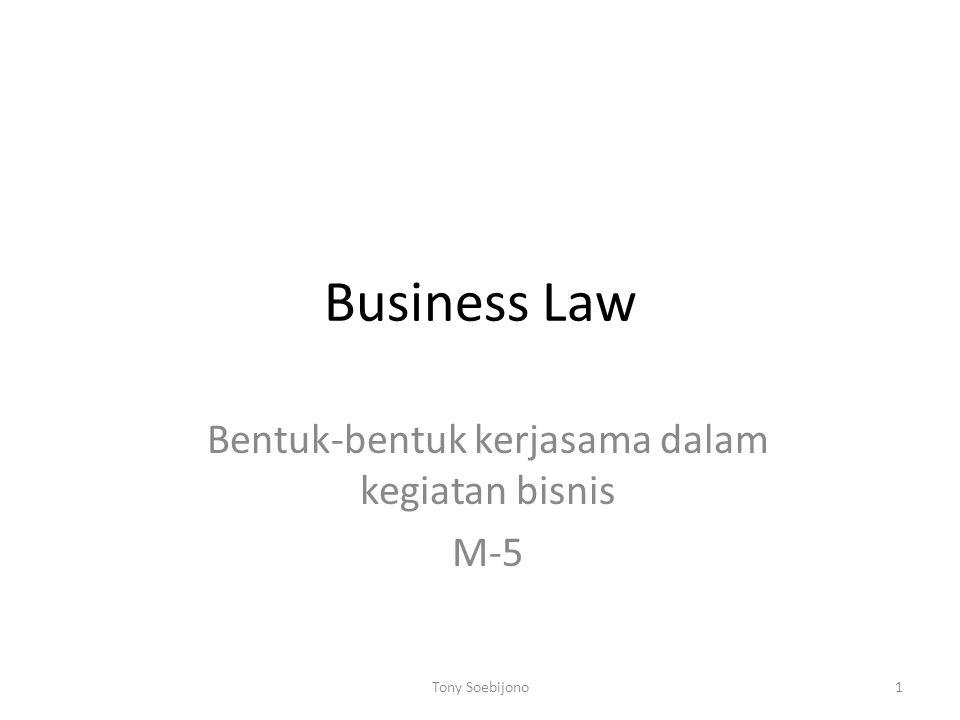 Bentuk-bentuk kerjasama dalam kegiatan bisnis M-5