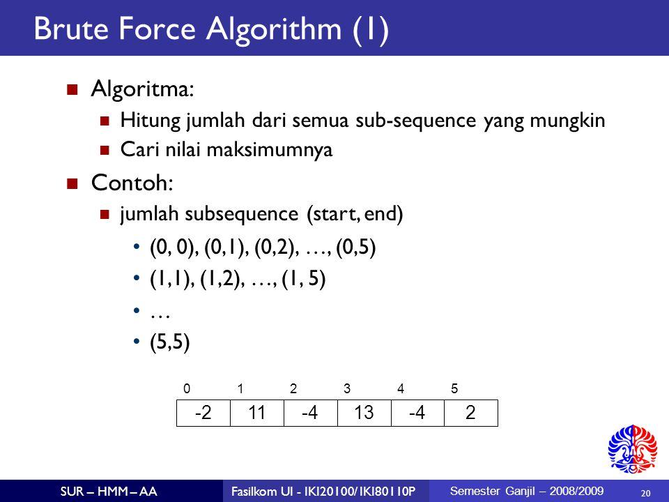 Brute Force Algorithm (1)